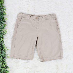 LOFT Khaki Tan Bermuda Pocket Shorts Petite 4P